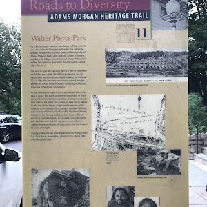 Roads to Diversity Adams Morgan Heritage Trail Walter Pierce Park The Rock Creek Valley, once home to Native Americans, had attracted European settlers by 1703. Before John Quincy Adams became ...