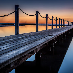 Narrabeen sunrise by Mandy Harvey - Buildings & Architecture Bridges & Suspended Structures ( pool, australian, sea, sunrise, narrabeen, coast )