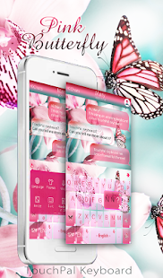 App Pink Butterfly Keyboard Theme APK for Kindle