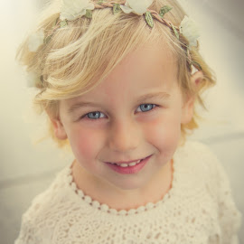 flower girl by Sheena True - Babies & Children Child Portraits ( lace, wedding flower girl, girl, toddler, flower )
