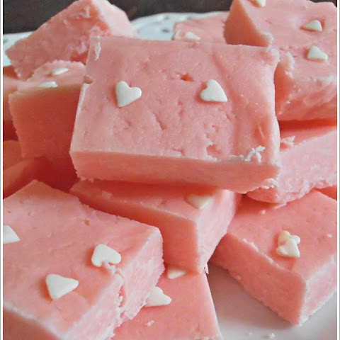 Strawberry Cream Fudge