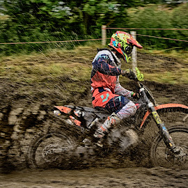 Mud Spreader by Marco Bertamé - Sports & Fitness Motorsports ( red, mud, motocross, speed, brown, race, noise )
