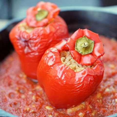 Spanish Style Vegetarian Stuffed Peppers