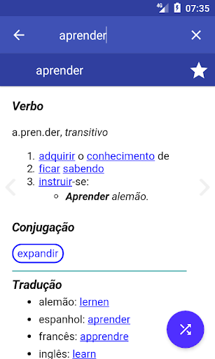 Portuguese Dictionary Offline screenshot 1