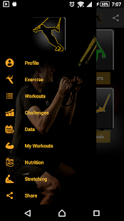 Workouts Suspension Fitness app screenshot for Android