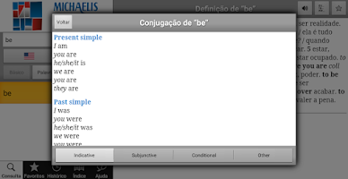 Screenshot of Michaelis Escolar Inglês