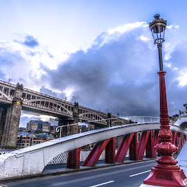 Newcastle's Swing Bridge by Adam Lang - Buildings & Architecture Bridges & Suspended Structures ( river tyne, high level bridge, gateshead, newcastle, swing bridge )