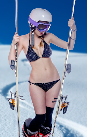 android Filles de Ski incroyable Screenshot 1