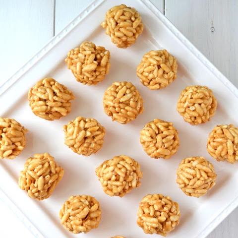 No Bake Peanut Butter Puff Balls