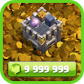 Gems and Gold for COC Prank Icon