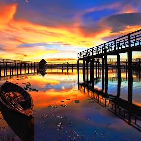 the Lake by Arthit Somsakul - Landscapes Sunsets & Sunrises