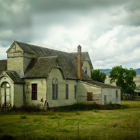 Old Church by Ruth Sano - Buildings & Architecture Decaying & Abandoned ( old, sky, church, storm, landscape, abandoned,  )
