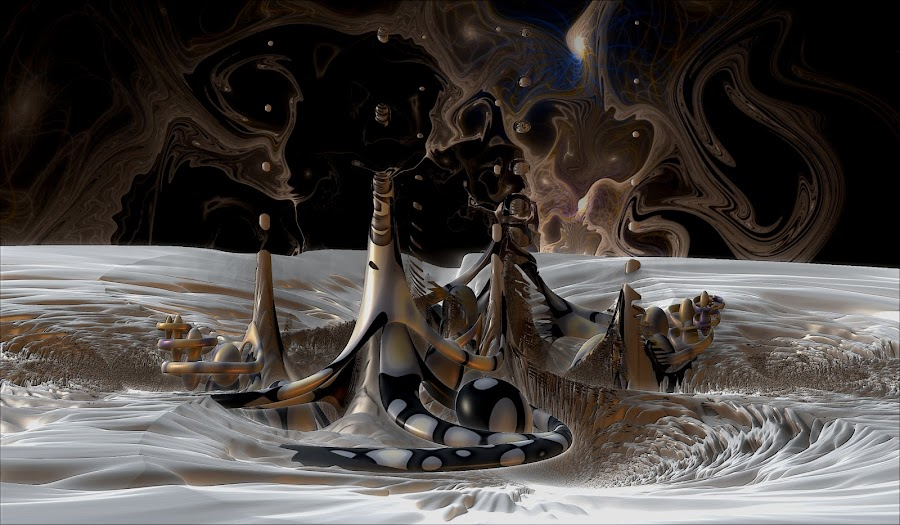 Ghost Skies Over Parrish by Rick Eskridge - Illustration Sci Fi & Fantasy ( fantasy, mb3d, jwildfire, fractal, twisted brush )
