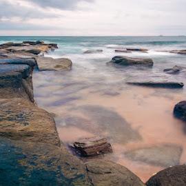 by Derek Clark - Landscapes Waterscapes ( sand, sky, waves, sea, rocks )
