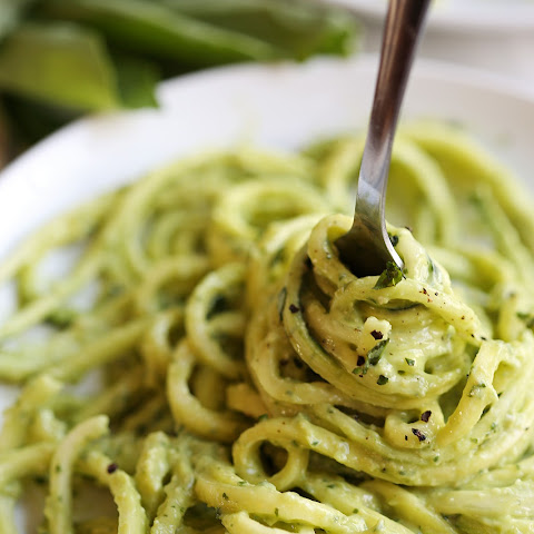 Zucchini Noodles with Creamy Avocado Pesto