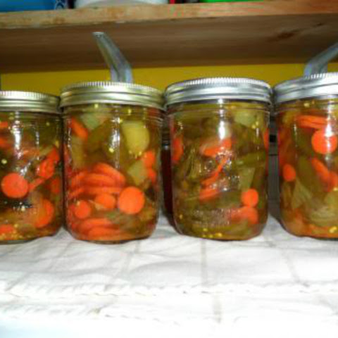 Pickled Jalapeños with Onion and Carrots