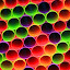Light and Colors II by Judy Florio - Abstract Patterns ( macro, plastic, colors, light, straws,  )