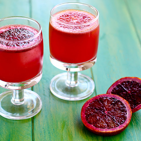 Blood Orange Lime Wine Spritzer
