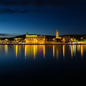 Split by night by Mislav Glibota - Landscapes Starscapes (  )