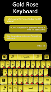 Gold Rose Keyboard - screenshot
