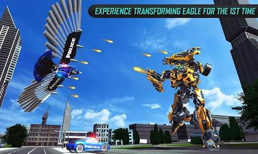 US Police Transform Robot Car Cop Eagle game