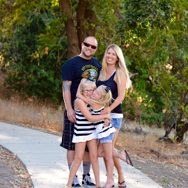 Happy Family by Kathleen Koehlmoos - People Family ( california family, family of blonds, family photography, 4 blonds, young family )