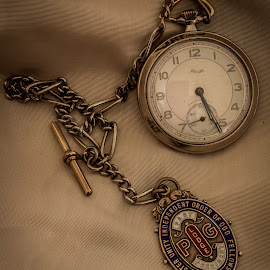 1930's Kienzle pocket watch and fob chain by Bill McPhail - Artistic Objects Clothing & Accessories ( fob, pocket watch, sterling silver, fob chain, kienzle, machined decoration,  )