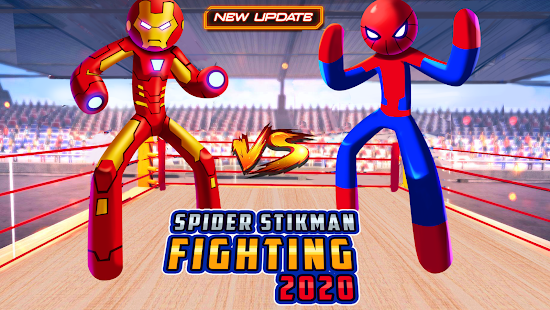 Spider Stickman Fighting 2020: Wrestling Games for pc