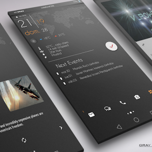 Gray Bloom XIU for Kustom/klwp APK Cracked Download