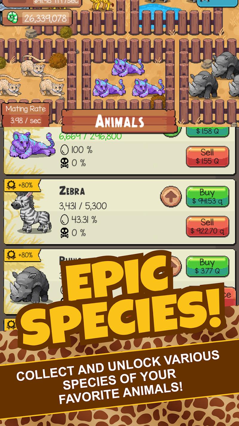 Idle Tap Zoo: Tap, Build & Upgrade a Custom Zoo Screenshot 1