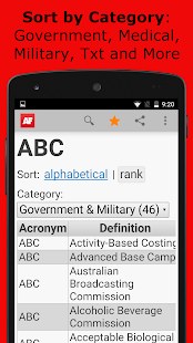 Acronym Finder - screenshot