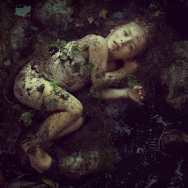 The Purity of Innocence by Patricia Wouterse - Digital Art People ( water, forrest, fineart, girl, dark, innocence, chiild )