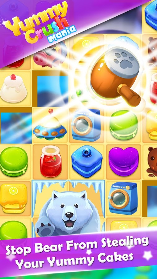 Yummy Crush Candy - Match 3 with Gummy Candies Screenshot 5