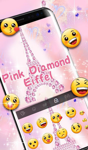 Pink Diamond Eiffel Keyboard Theme screenshot 5