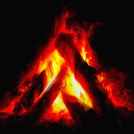 Camp Fire by Dave Walters - Uncategorized All Uncategorized ( camping, nature, fire, lumix, colors )