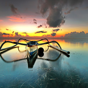 Floating by Agoes Antara - Transportation Boats