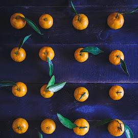 Yellow Mandarins by TaTu Thai - Food & Drink Fruits & Vegetables ( wood, food natural, background, dark, light, lowkey )