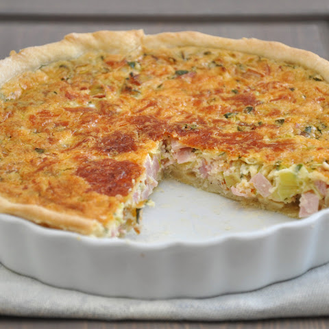 Skinny Chicken and Spinach Quiche