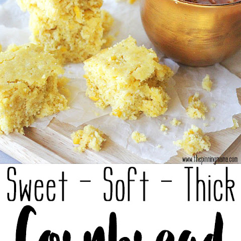 Soft & Thick Sweet Cornbread