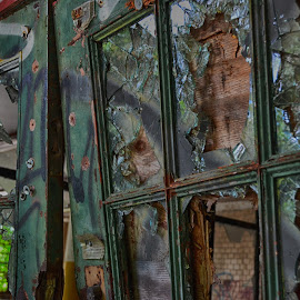 Through the Windows -  Abandoned and Decaying  by Lorraine D.  Heaney - Buildings & Architecture Decaying & Abandoned