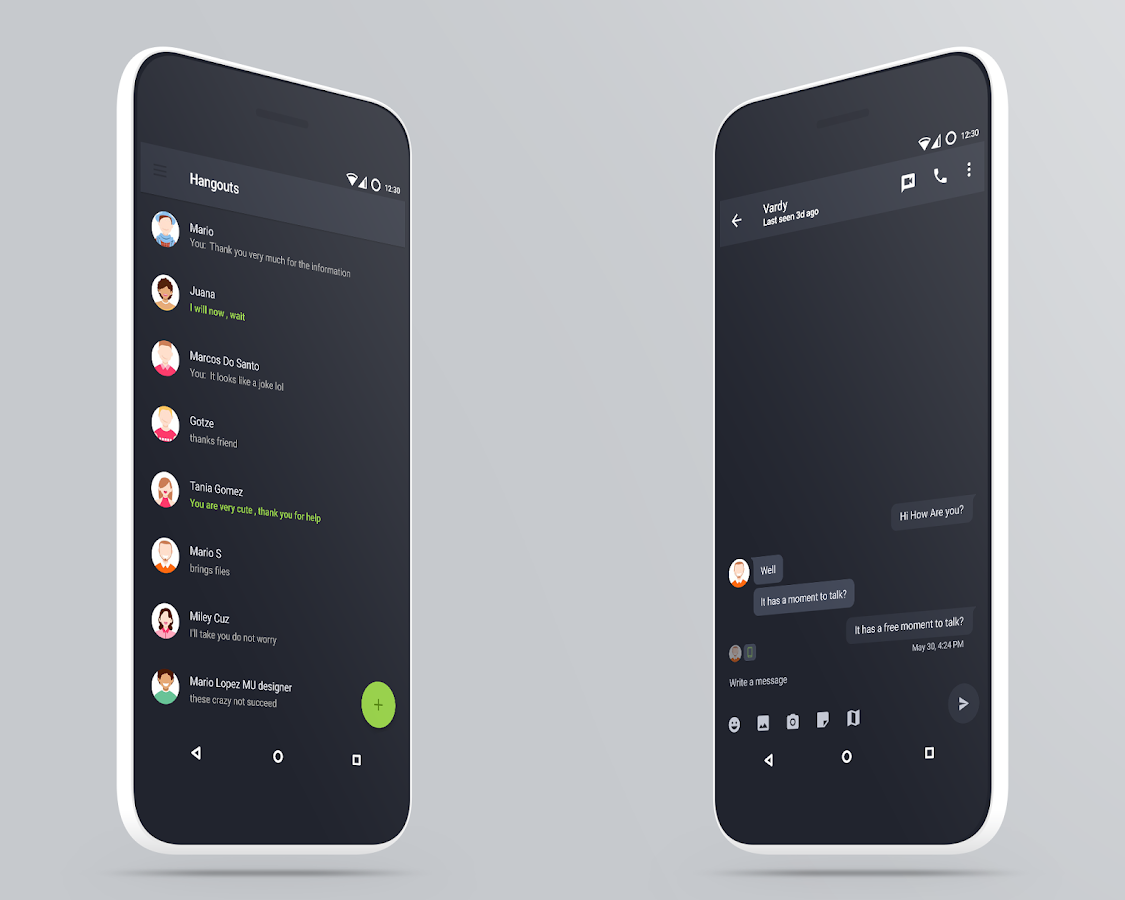 MaterialUp theme Dark! CM12 13 Screenshot 18