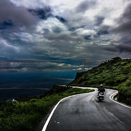 There is no way that we can predict the weather..Shot on the first stop on my way back to home.Mobile Click.. by Rahul Baruah - Landscapes Travel