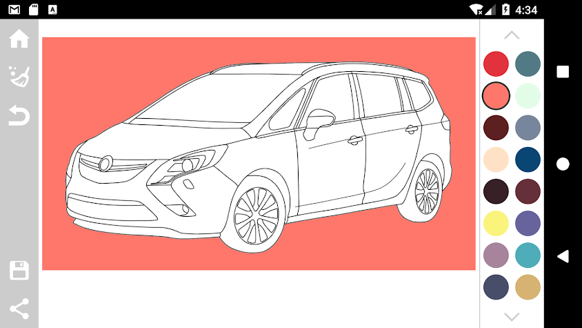 German Cars Coloring Book Screenshot