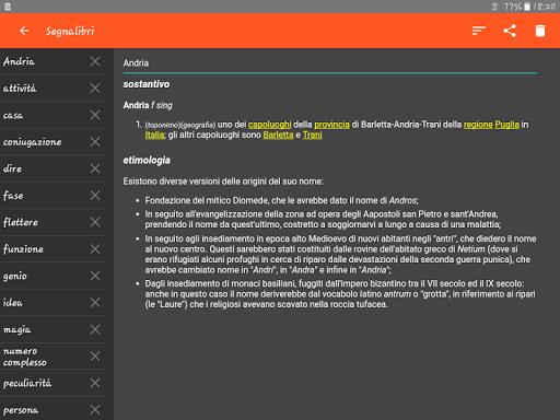 Italian Dictionary - Offline screenshot 12
