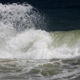 Breaking Surf by Roxanne Dean - Landscapes Waterscapes ( tides, water, splash, surf, salt water )