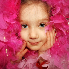 Funny Face by Lauri Dean-Clope - Babies & Children Children Candids ( girl, funny, pink, toddler, pretty )