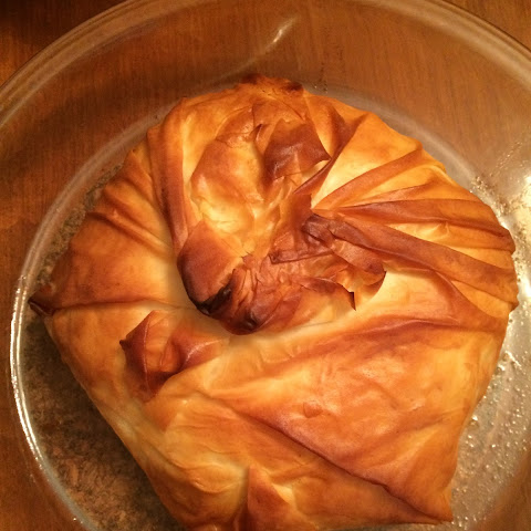 Phyllo Wrapped Baked Brie with Red Pepper Jelly