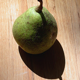 Pear Shadow by Gwen Paton - Food & Drink Fruits & Vegetables ( shadow, green pear, pear )