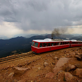 Pikes Peak Cog Train  by Justin Giffin - Transportation Trains ( mountains, colorado, 14ers, transportation, trains )