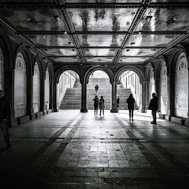 Underground by Mirco Balboni - City,  Street & Park  Street Scenes ( new york city, central park )